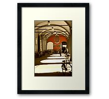 Bicycles in Bologna's sunset Framed Print