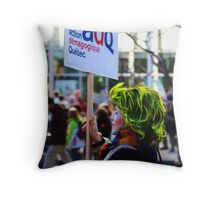 Montreal -  Demonstration by Students Throw Pillow