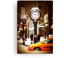 Snowtime in NY Canvas Print