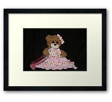 Mrs. Bear Sits for Her Portrait Framed Print