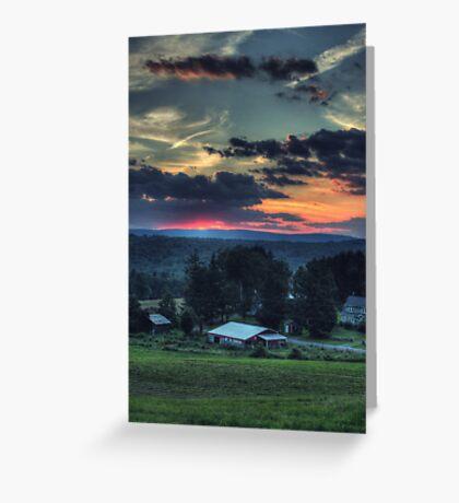 Sunset Over Daweland Farms Greeting Card