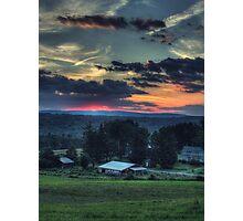 Sunset Over Daweland Farms Photographic Print