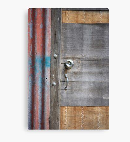 Old Door New Lock Canvas Print