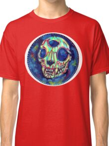 psychedelic psychic cat skull Classic T-Shirt