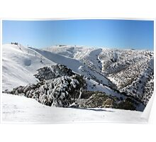 Hotham ski slopes Poster