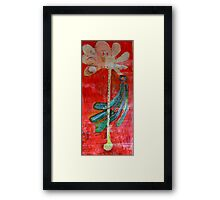 The peacock and the tree Framed Print