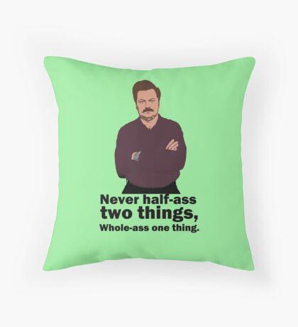 Ron Swanson Honour Code Throw Pillow
