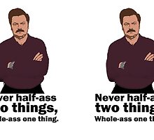 Ron Swanson Honour Code by fandomwithlove