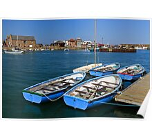 Summer Boats At Stonehaven Poster