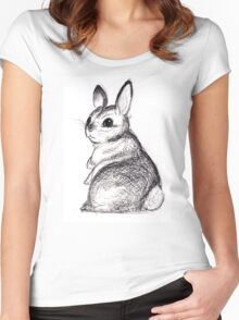 Ballpoint Bunny Women's Fitted Scoop T-Shirt