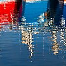 Boat Reflection In Fraserburgh by Bill Buchan