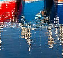 Boat Reflection In Fraserburgh by Bill Buchan
