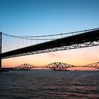 Forth Bridges at Dawn by chriscyner