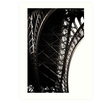 Eiffel Tower arch Art Print