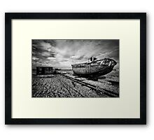 Boat and shed  Framed Print