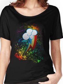Rainbow Dash Cutie Mark  Women's Relaxed Fit T-Shirt