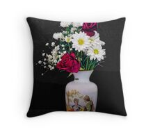 Mother's Flowers Throw Pillow