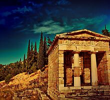 Greece. Ancient site of Delphi. by vadim19