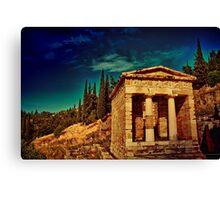 Greece. Ancient site of Delphi. Canvas Print