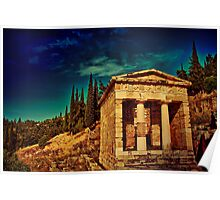 Greece. Ancient site of Delphi. Poster