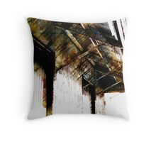 Pioneer Station (Scott Peters, 2009, Digital Mixed Media) Throw Pillow
