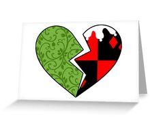 Poison Ivy & Harley Quinn Greeting Card
