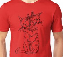 polycephalic cat (black lines) Unisex T-Shirt