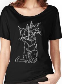 polycephalic cat (white lines) Women's Relaxed Fit T-Shirt