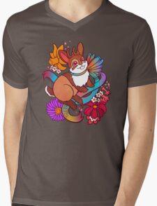 Springtime Jackalope Mens V-Neck T-Shirt