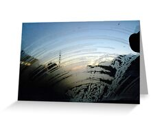 Icy Windscreen Greeting Card