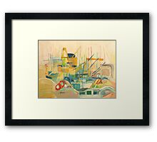 port observation spain Framed Print