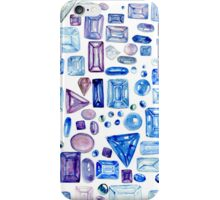 Gemstone Party in Blues & Purples iPhone Case/Skin