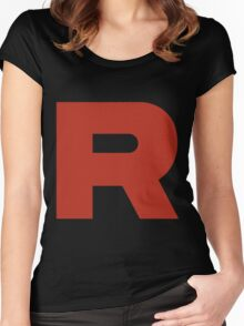 R Team Rocket Pokemon Women's Fitted Scoop T-Shirt