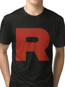 R Team Rocket Pokemon Tri-blend T-Shirt