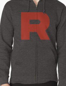 R Team Rocket Pokemon Zipped Hoodie