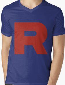 R Team Rocket Pokemon Mens V-Neck T-Shirt