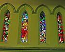 Albert Street Uniting Church, Brisbane - Easter set. by Margaret  Hyde