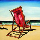 Crimson Beach Chairs  by gillsart