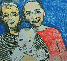 Fara, Bo and little Ari by donnamalone