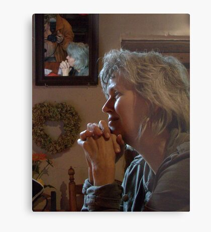 Waiting for Coffee Metal Print