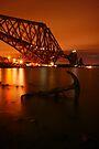 Forth Rail Bridge by Night by Chris Cherry