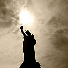 Shadows of Liberty - Statue of Liberty, New York by Ben Prewett