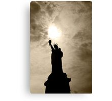 Shadows of Liberty - Statue of Liberty, New York Canvas Print