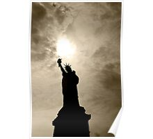 Shadows of Liberty - Statue of Liberty, New York Poster