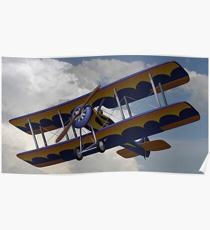 Bi-Plane Flying Poster