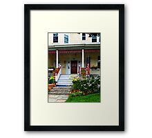 Porch With Front Yard Garden Framed Print