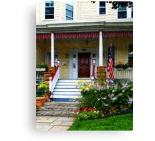 Porch With Front Yard Garden Canvas Print