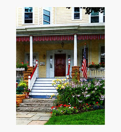 Porch With Front Yard Garden Photographic Print
