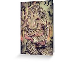 Snake in my Heart. Greeting Card
