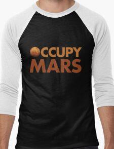 Occupy Mars Men's Baseball ¾ T-Shirt